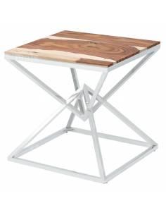 Metalowy chromowany stolik...
