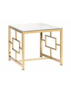 Złoty stolik z metalowym...