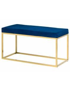 Kobaltowa ławka glamour z...