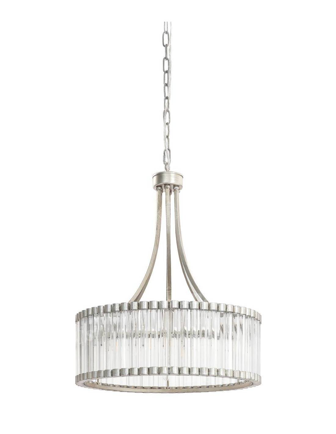 Kryształowy żyrandol glamour vintage duży 56 cm