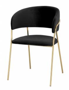 Metalowe złote krzesło z...