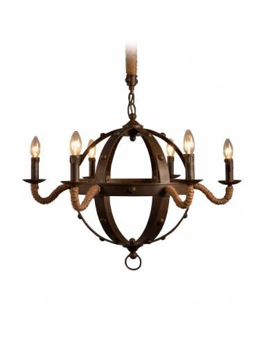 Gotycki metalowy żyrandol zdobiony...