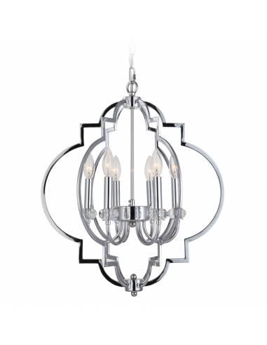 Srebrny żyrandol sufitowy stylizowany...