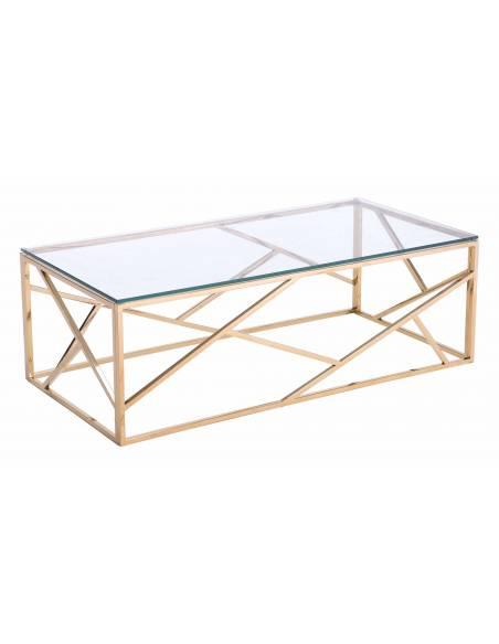 Stolik szklany stolik kawowy metalowy