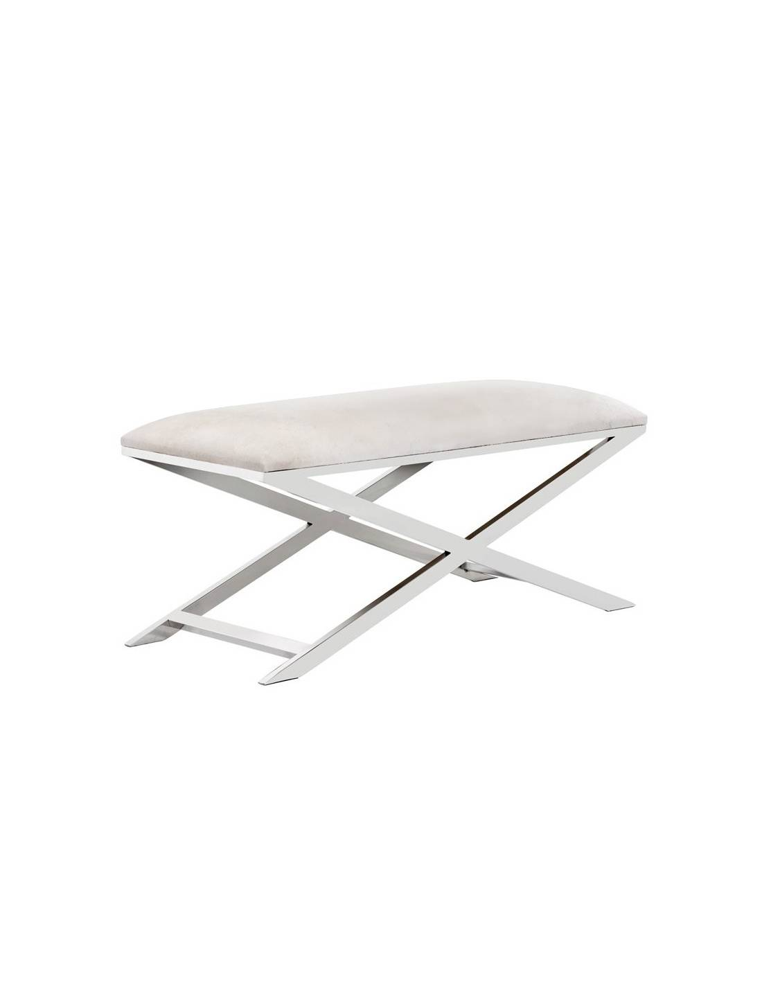 Metalowa ławka z miękkim siedziskiem