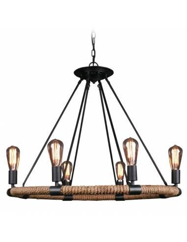 Lampa sufitowa ze stalowej obręczy...