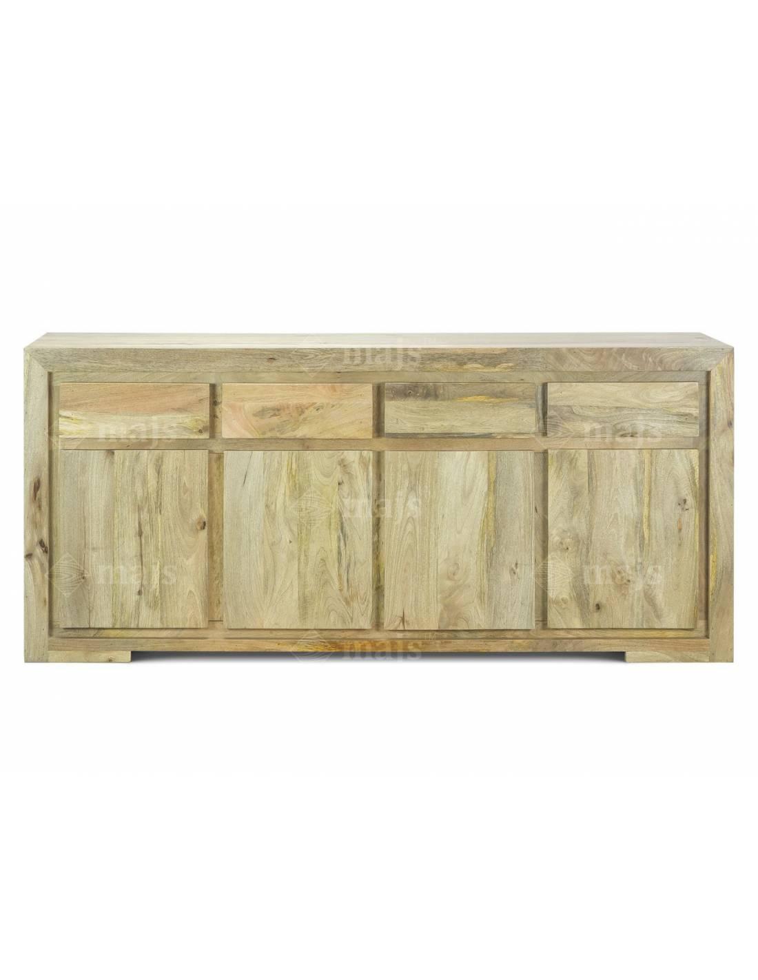 Komoda 180 cm Amiya z litego drewna mango 4 szuflady