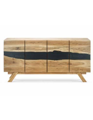 Komoda z litego egzotycznego drewna...