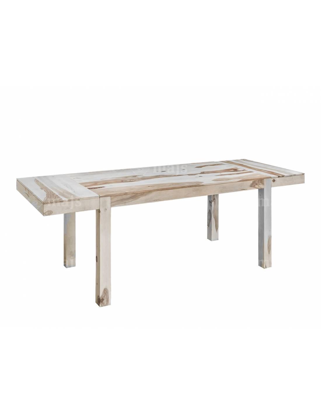 Stół do salonu 160-240 cm z litego bielonego drewna palisandru indyjskiego