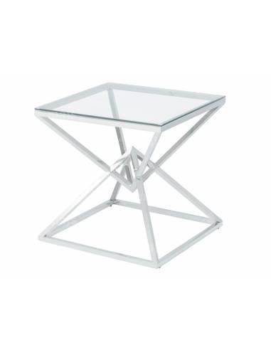 Metalowy chromowany stolik ze...