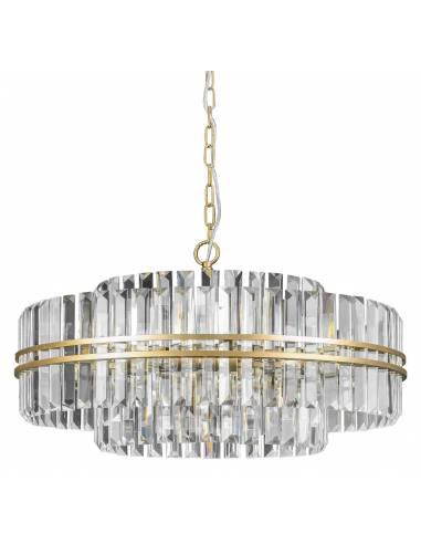 Luksusowy żyrandol z kryształami i...